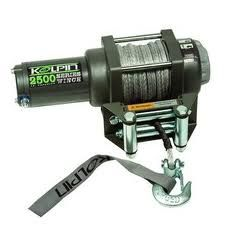 kolpin 2500lb winch synthetic cable